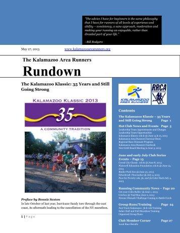Rundown - Kalamazoo Area Runners