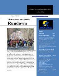 Rundownwsletter - Kalamazoo Area Runners