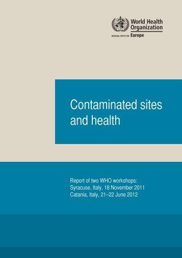 Contaminated sites and health - Istituto Superiore di Sanità