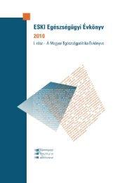 ESKI Egészségügyi Évkönyv 2010 - I. rész