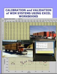 Calibration and Validation of WIM Systems using Excel Workbooks