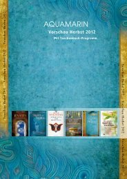 Aquamarin Verlagsvorschau Herbst 2012