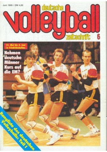 Ranglisten 1989 - Männer - Deutscher Volleyball-Verband