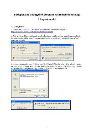 Programhasználati útmutató - ESKI