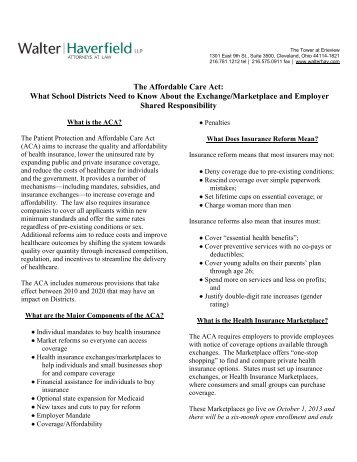 The Affordable Care Act: What School Districts Need to Know About ...