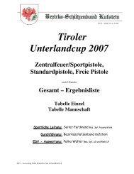 Tiroler Unterlandcup 2007