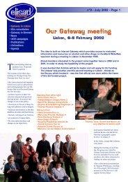 Elisad Journal issue 9 July 2002 - ESKI