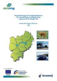 Förutsättningar & framgångsfaktorer för utvecklingen av ... - Biogas Öst
