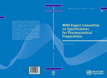 WHO Technical Report Series, No. 981 - World Health Organization