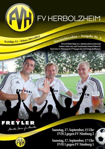 FV Herbolzheim Stadionheft News 2011-2012. - Fußballverein ...