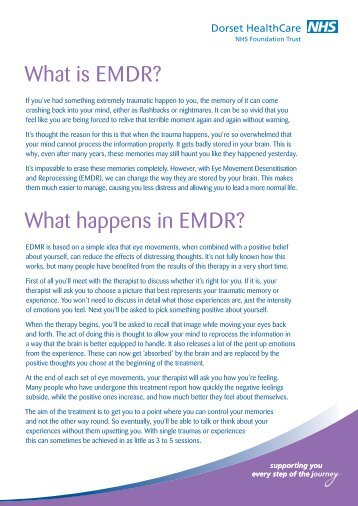What is EMDR? What happens in EMDR? - Dorset HealthCare