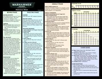 Reference Sheet - TheWinterNet!