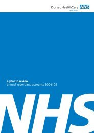 Annual Report 2004-05 - Dorset HealthCare
