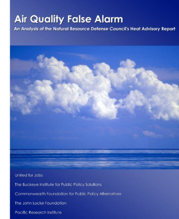 Air Quality False Alarm - Joel Schwartz