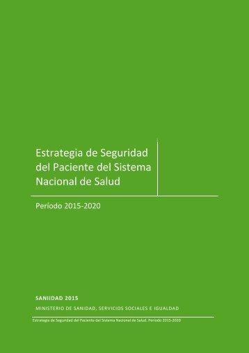 Estrategia Seguridad del Paciente 2015-2020