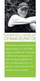 Flyer Ohrakupunktur Bonn - Petra Dressel