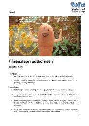 Elevark til filmanalyse i udskolingen