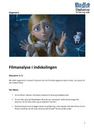 Opgaveark til filmanalyse i indskolingen - Buster.dk