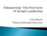 Followership: The First Form of Servant Leadership - Greenleaf ...