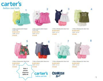Carters Mexico catalogo mayoreo y menudeo