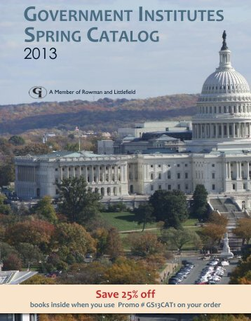 sPrInG CAtAloG Government InstItutes - Bernan