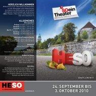 24. SEPTEMBER BIS 3. OKTOBER 2010 - HESO Solothurn