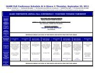 IAASE Fall Conference Schedule At A Glance Thursday, September ...