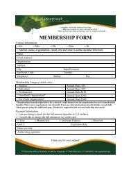 MEMBERSHIP FORM - Greenleaf Center for Servant Leadership