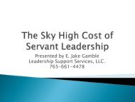 The Sky High Cost of Servant Leadership - Greenleaf Center for ...