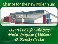 Our Vision for the JPC Multi-Purpose Childcare & Family Center