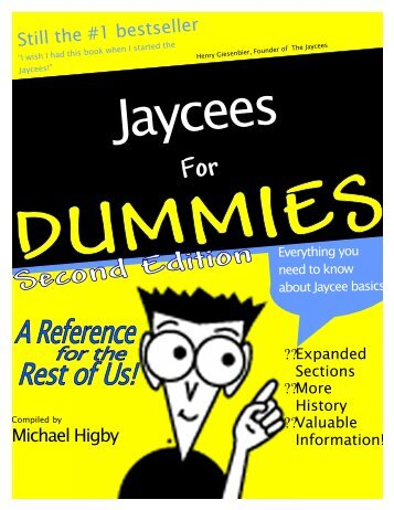 Jaycees for Dummies 2000 - NC JCI Senate