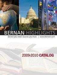 2009-2010 Catalog - BERNAN HIGHLIGHTS