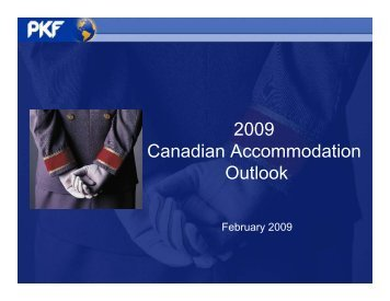 2009 Canadian Accommodation Outlook - PKF Consulting