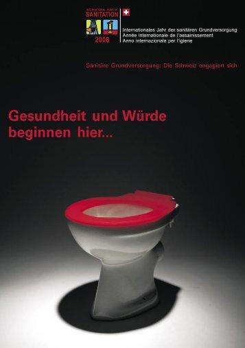 Sanitäre Grundversorgung: Die Schweiz engagiert sich - Seco