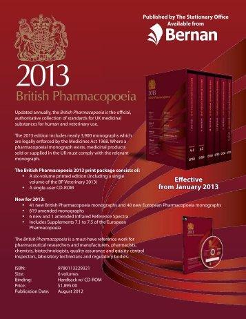 British Pharmacopoeia - Bernan