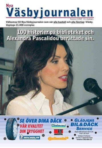 100 historier på biblioteket och Alexandra Pascalidou berättade sin ...
