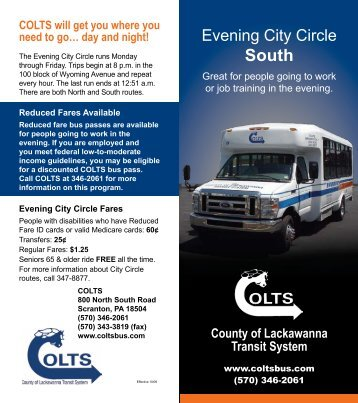 Evening City Circle - COLTS Bus