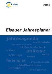 Elsauer Jahresplaner - Gewerbeverein Elsau-Schlatt