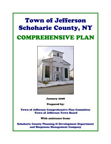 Town of Jefferson Comprehensive Plan ... - Schoharie County