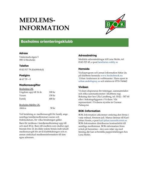994906bed598 MEDLEMS- INFORMATION - Boxholms OK
