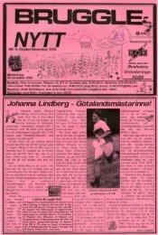 Bruggle oktober & november 2000 - Boxholms OK