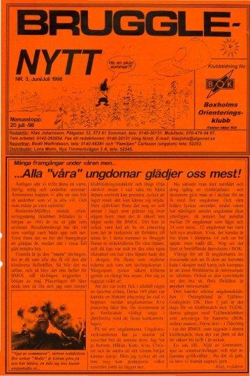 Bruggle juni & juli 1998 - Boxholms OK