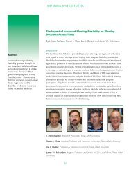 The Impact of Increased Planting Flexibility on Planting ... - ASFMRA