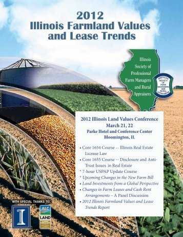 IllinoisLandValuesConference Program - American Society of Farm ...