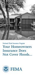 Your Homeowners Insurance Does Not Cover Floods...