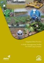 Irrigation Best Practice A Water Management Toolkit for Field Crop ...