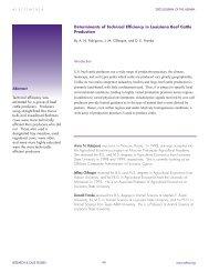 Determinants of Technical Efficiency in Louisiana Beef ... - ASFMRA
