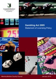 Statement of Gambling Policy - Monmouthshire County Council