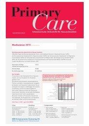 Mediadaten 2013 PrimaryCare - EMH