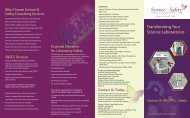 Download a brochure (pdf) - Science & Safety Consulting Services